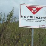 Minenfeld in Kroatien